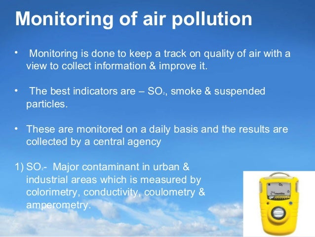 Monitoring of air pollution