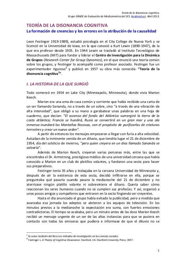 Teoríadeladisonanciacognitiva.                                        GrupoGRADEdeEvaluacióndeMedicamentosdelS...