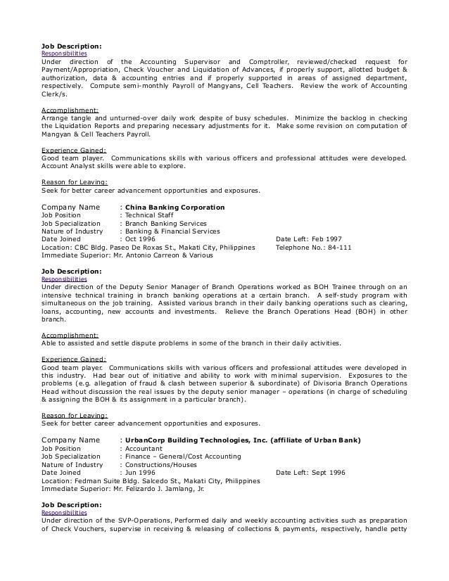Curriculum Vitae Of Lorenzo Tion Tan