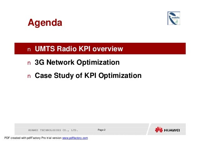 INTRODUCTION 3G NETWORK KPIS DOWNLOAD