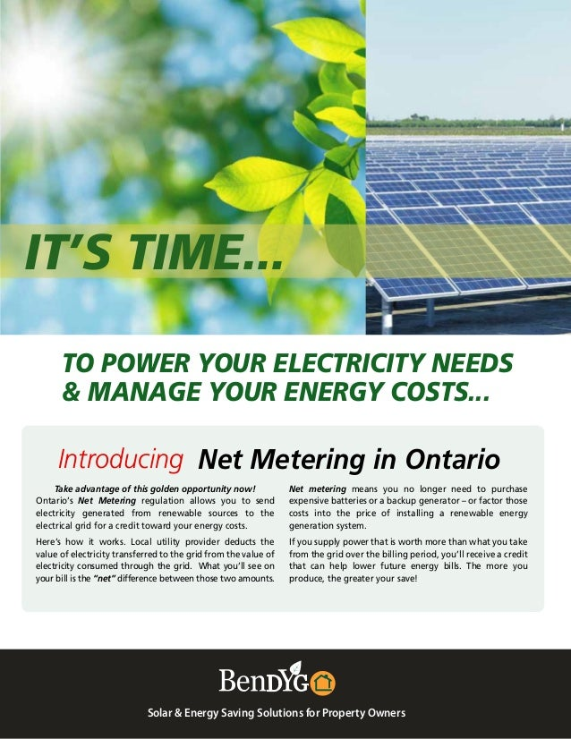 IT'S TIME... Solar & Energy Saving Solutions for Property Owners Net metering means you no longer need to purchase expensi...