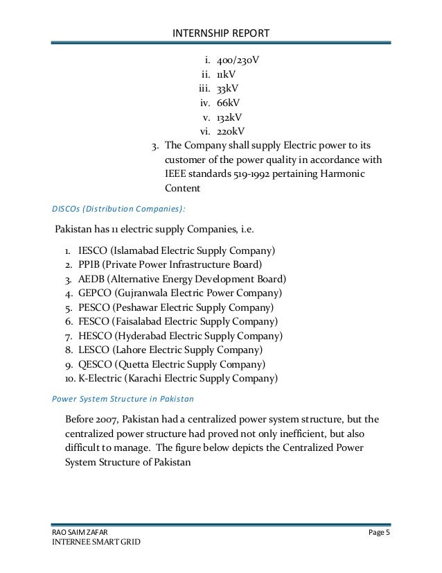Internship report of hesco