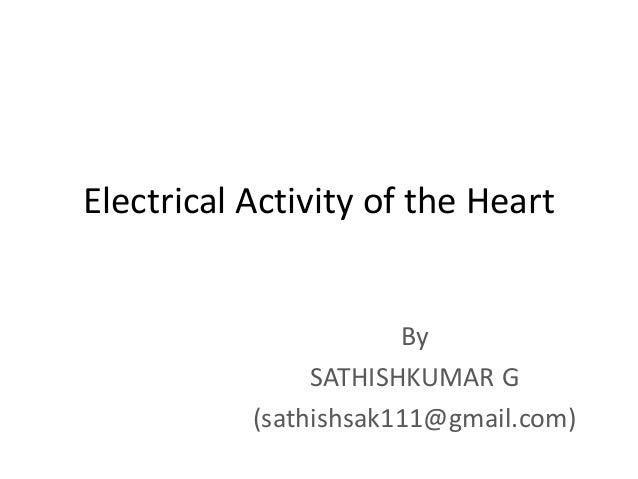 Electrical Activity of the Heart By SATHISHKUMAR G (sathishsak111@gmail.com)