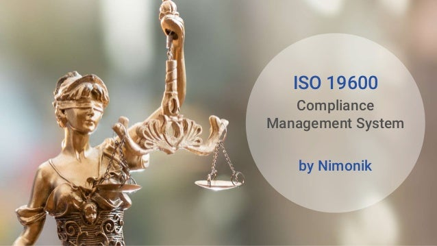 ISO 19600 Compliance Management System by Nimonik