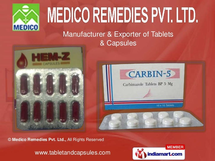 Manufacturer & Exporter of Tablets                                     & Capsules© Medico Remedies Pvt. Ltd., All Rights R...