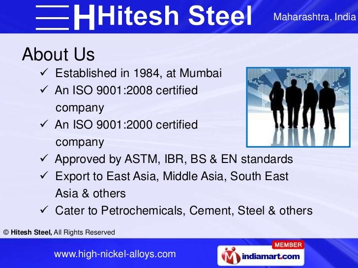 Maharashtra, India     About Us            Established in 1984, at Mumbai            An ISO 9001:2008 certified         ...