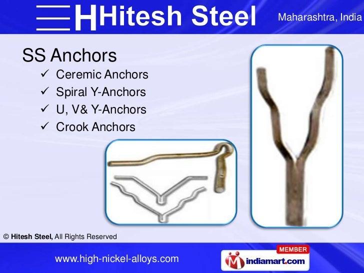 Maharashtra, India     SS Anchors               Ceremic Anchors               Spiral Y-Anchors               U, V& Y-An...