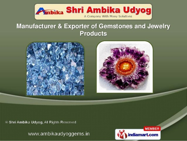 Manufacturer & Exporter of Gemstones and Jewelry                   Products