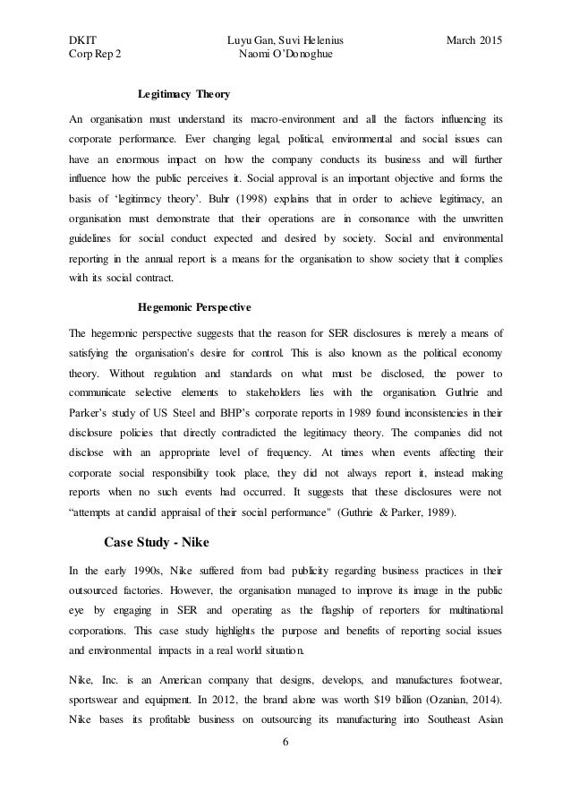 Response Essay Thesis  International Business Essays also Health Essays Social And Environmental Reporting  An Essay Thesis Statement For Descriptive Essay