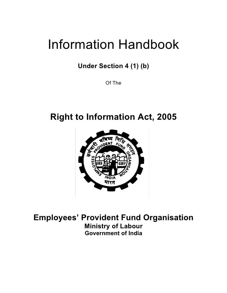 Information Handbook           Under Section 4 (1) (b)                    Of The        Right to Information Act, 2005    ...