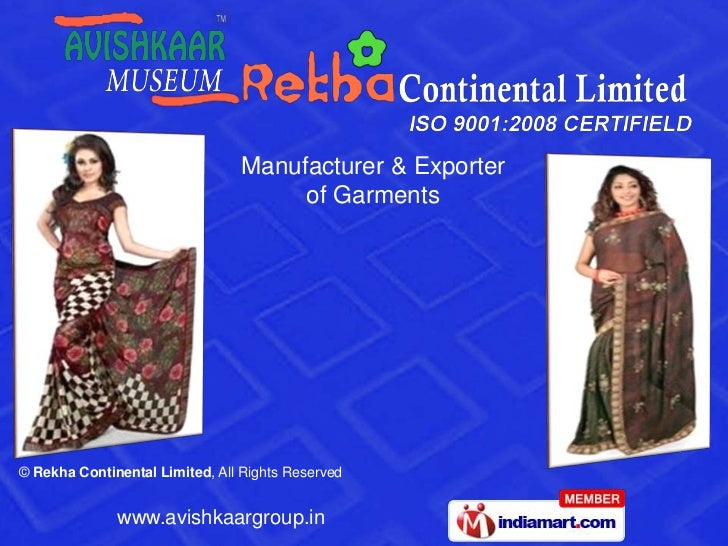 Manufacturer & Exporter                                     of Garments© Rekha Continental Limited, All Rights Reserved   ...