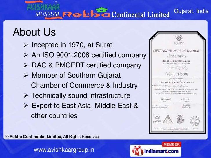 Rekha Continental Limited Gujarat India Slide 2