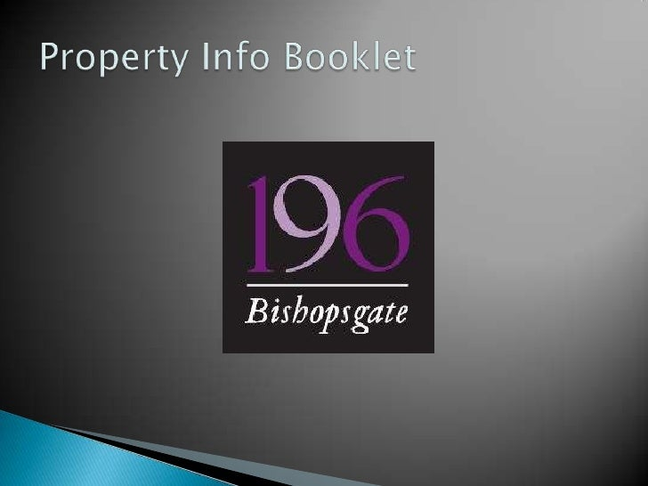 Property Info Booklet<br />