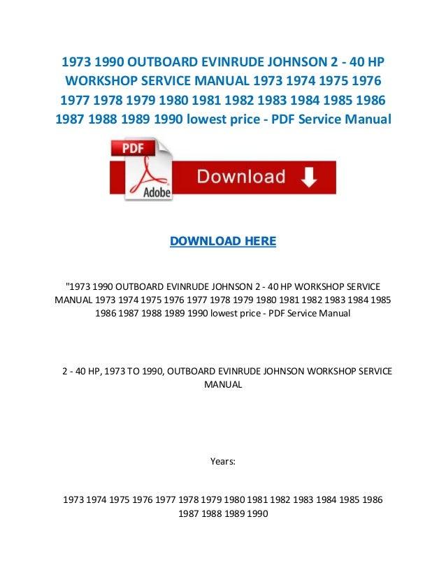 Mercury 40 hp outboard service manual pdf dolapgnetband mercury fandeluxe Gallery
