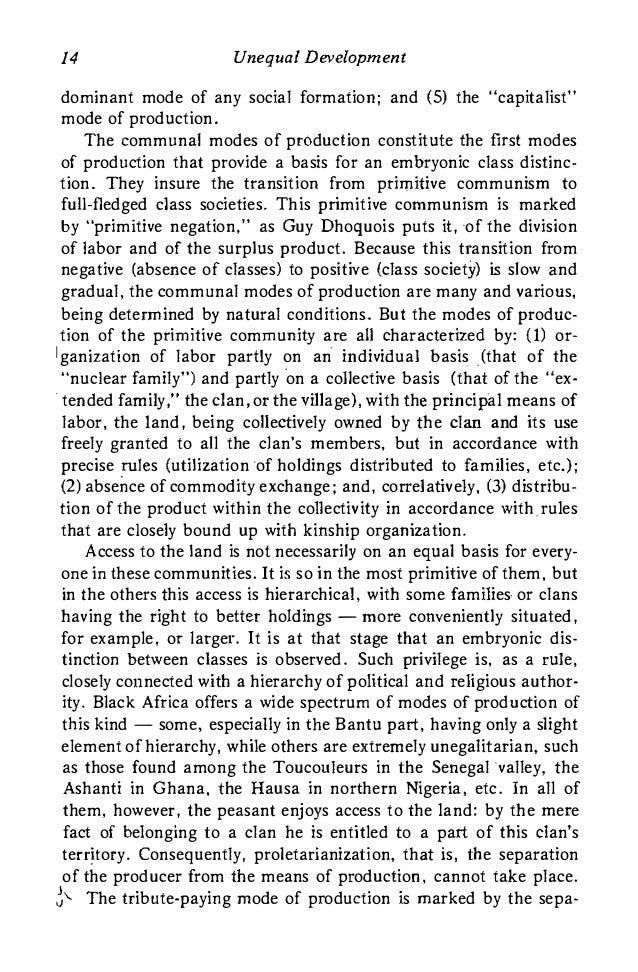 Feudalism and capitalism essay