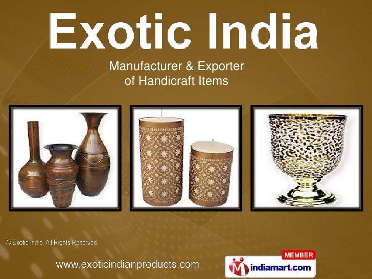 Manufacturer & Exporter of Handicraft Items<br />