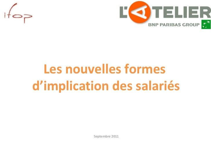 Septembre 2011 pour Les nouvelles formes  d'implication des salariés