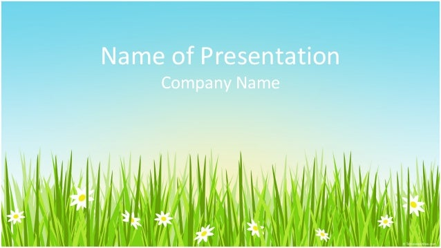 Spring Field Powerpoint Template  WhiteboardFreeforumsOrg