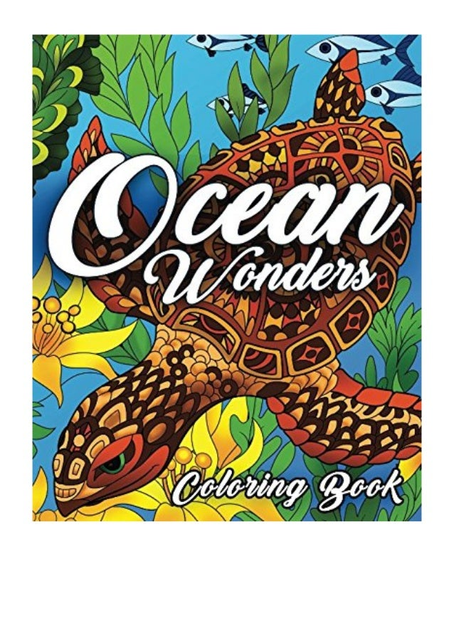Ocean Coloring Book PDF - Coloring Book Cafe An Adult Coloring Book …
