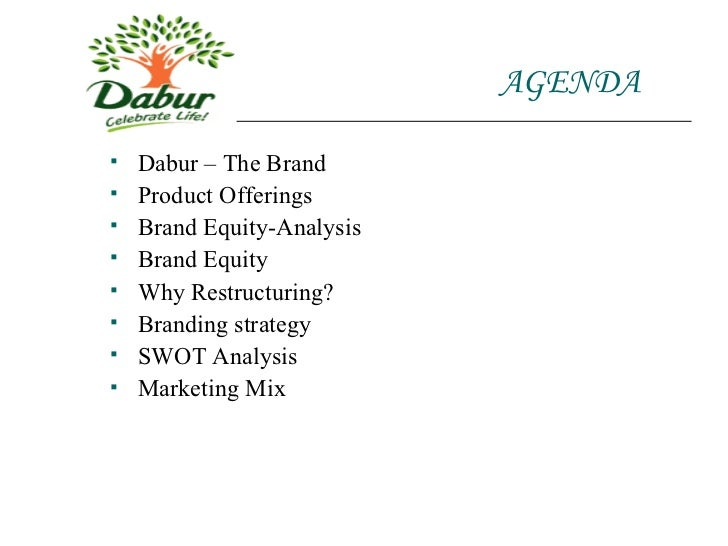 AGENDA <ul><li>Dabur – The Brand </li></ul><ul><li>Product Offerings </li></ul><ul><li>Brand Equity-Analysis </li></ul><...