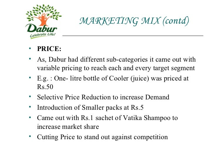 dabur real juice marketing mix Dabur india limited  dabur board currently has a healthy mix of professionals and family  its juice plant in nepaldabur foods,the subsidiary.