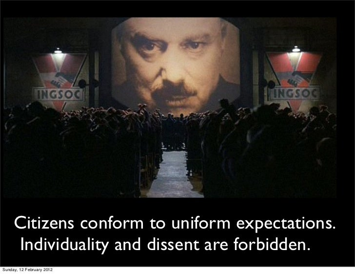 control society in 1984 Upon which students can form their own opinions about today's society 1984's relevance to today a world of manipulation and control which uses its people.