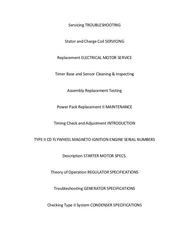 Outboard Stator Symptoms