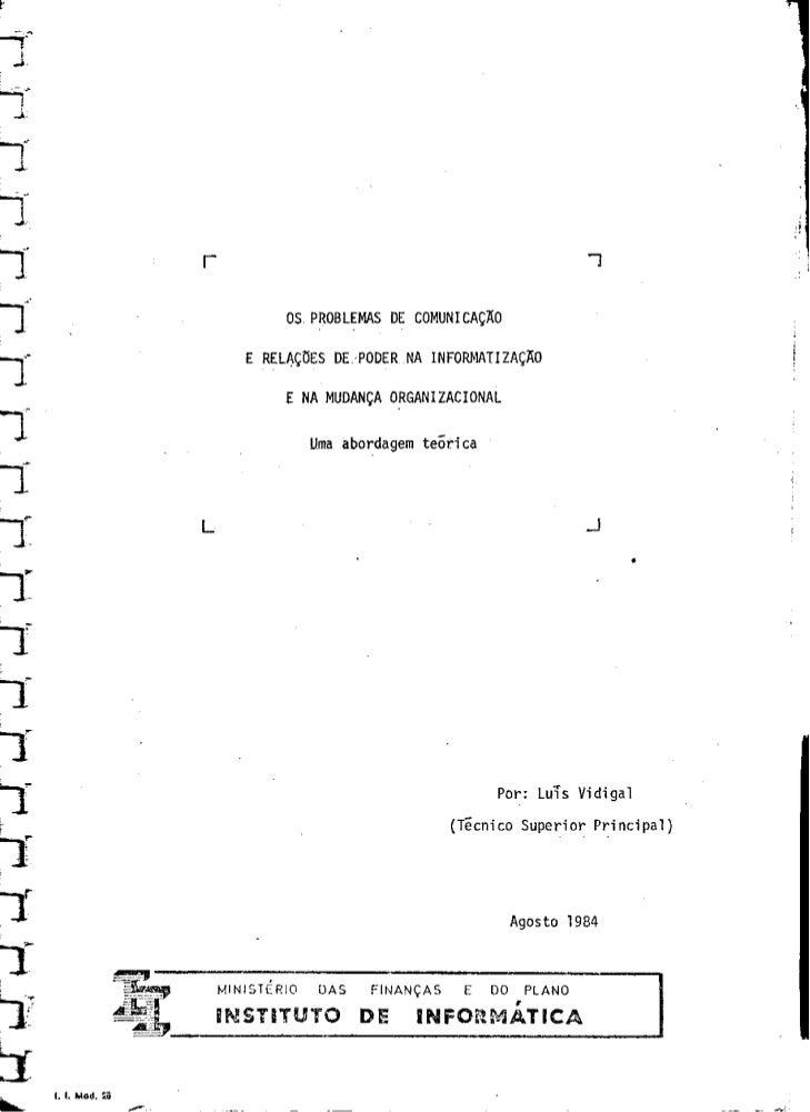 1984   comunicação e relações de poder na informatização