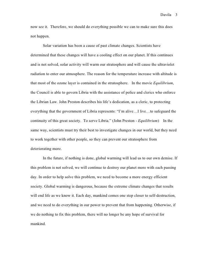 1984/Global Warming Essay