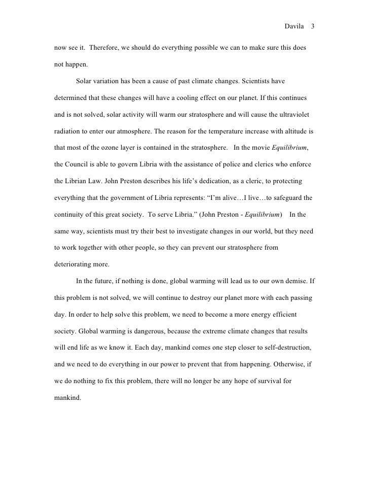 global warming essay  3