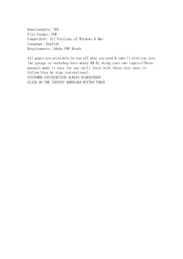 1984 honda cb750 sc nighthawk service repair manual instant download rh slideshare net