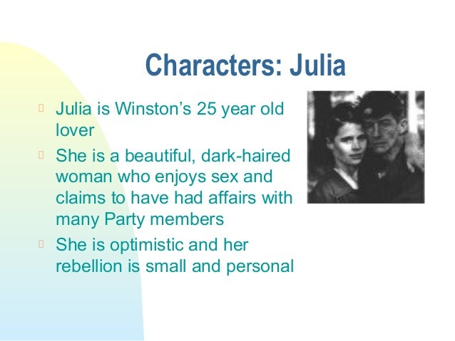The julias rebellion as greater to that of winstons in the novel 1984 by orwell