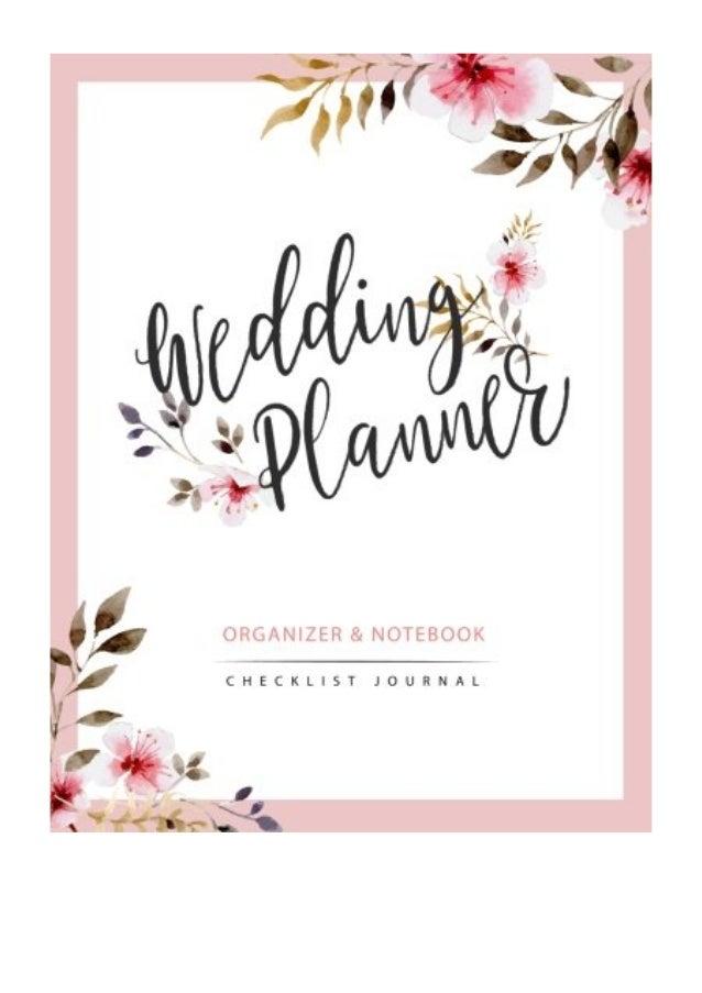 Wedding Planner PDF - Jasmine Books Watercolor Flower My Wedding Orga…