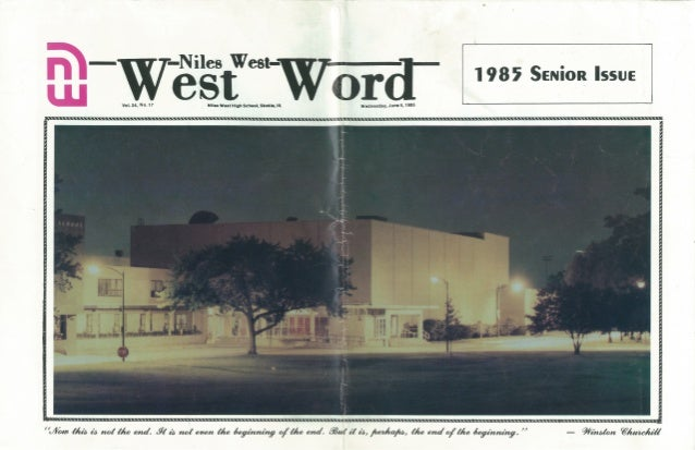 1985 Niles West Word