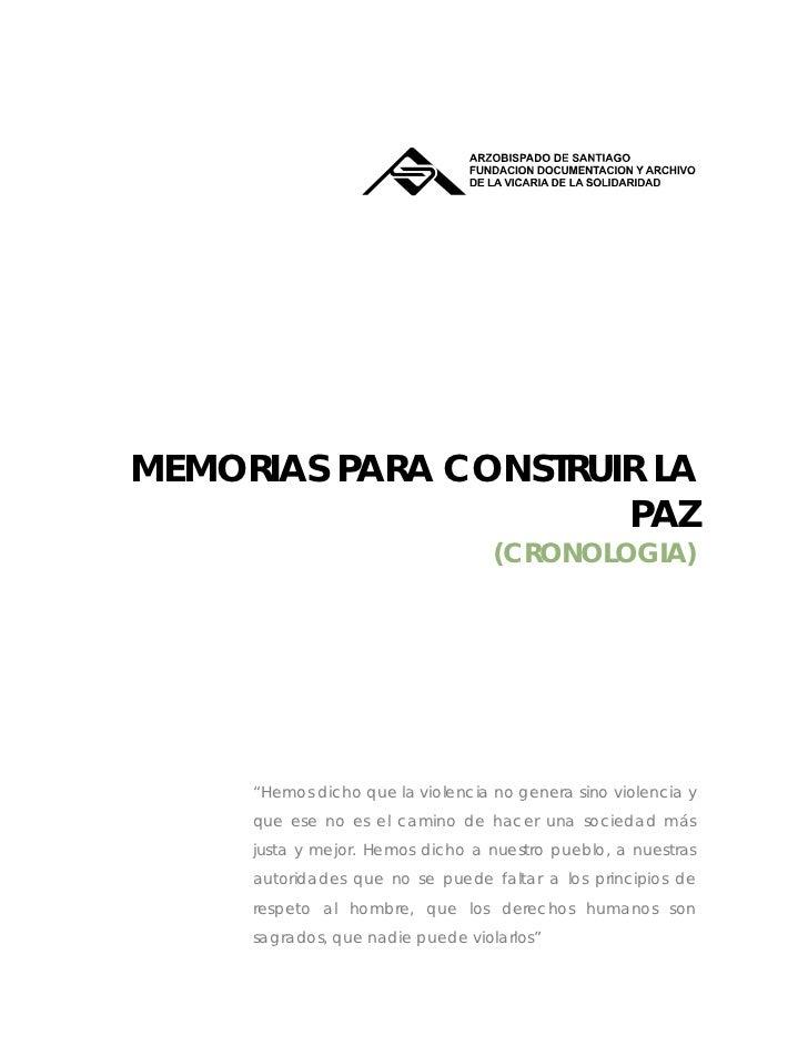 MEMORIAS PARA CONSTRUI...