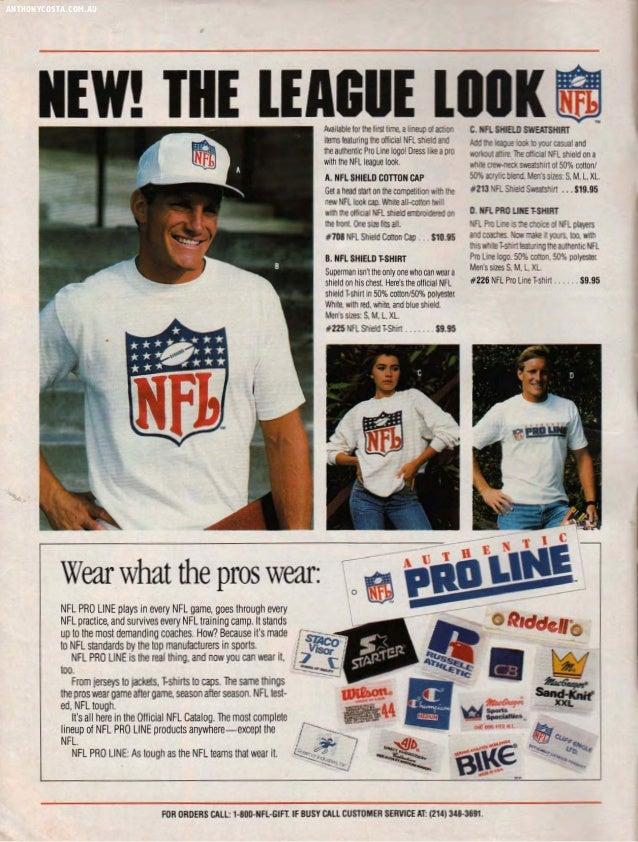 1987 NFL Pro Line Catalogue Slide 2