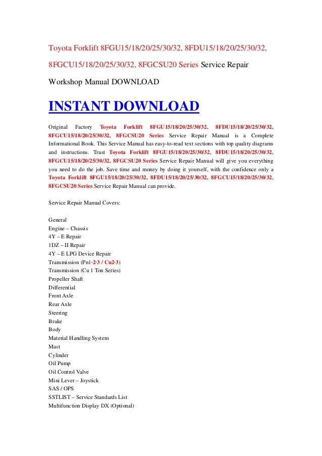 Nissan Forklift error Code Manual