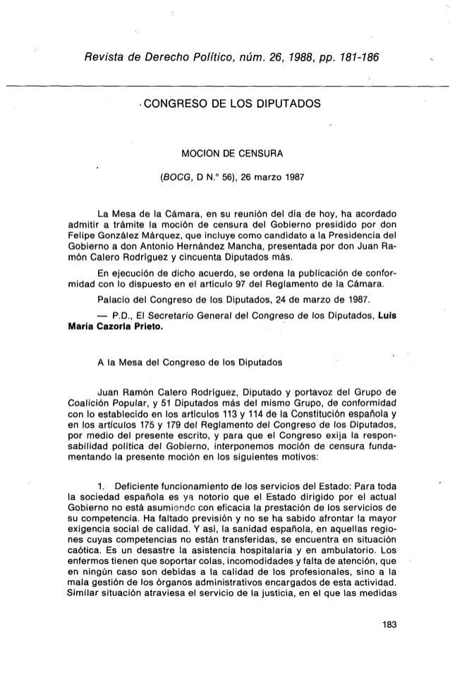 Revista de Derecho Político, núm. 26, 1988, pp. 181-186                • CONGRESO DE LOS DIPUTADOS                        ...