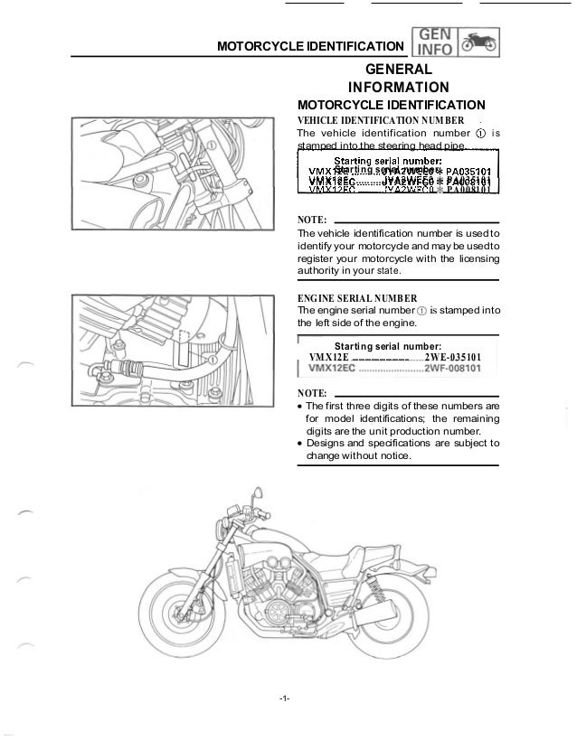 [SCHEMATICS_48IS]  1988 yamaha vmx1200 u c vmax service repair manual | 94 Vmax 1200 Wiring Diagram |  | SlideShare