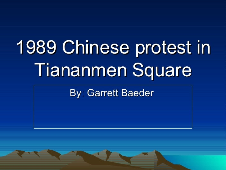 tiananmen square protest of 1989 essay To study in-depth the tiananmen square protest as well as the complexity of the two major  april 22, 1989: hu's funeral in tiananmen square government wants to.