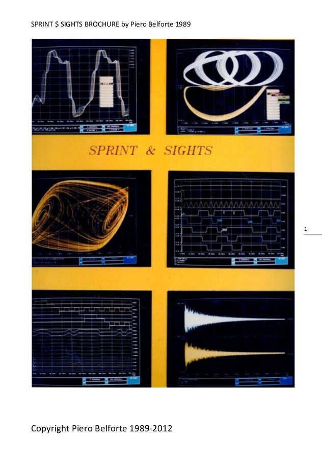 SPRINT $ SIGHTS BROCHURE by Piero Belforte 1989Copyright Piero Belforte 1989-20121