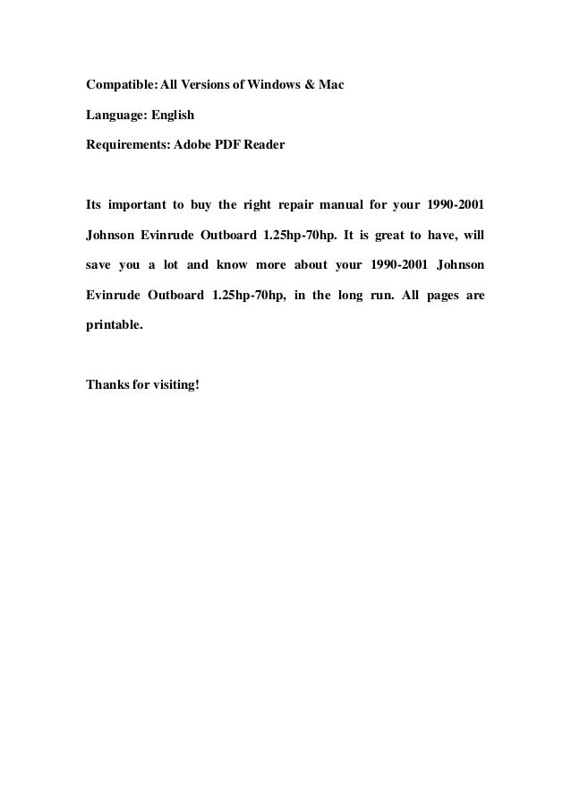 1990 evinrude 25hp Manual