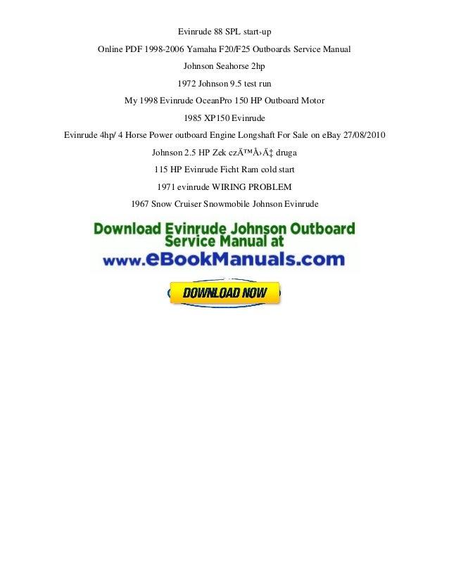 evinrude repair manual intruder 150