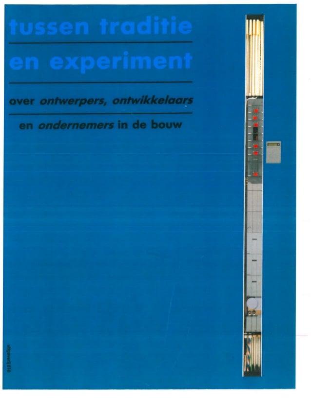 1990   booosting tussen traditie en experiment - over ontwerpers, ontwikkelaaars en ondernemers in de bouw