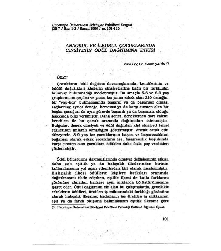 Hacettepe ÜniversUestEdebiya,t.F~st~fst    ~t1t?, i sayı 1-2/ ~1990  i .._101-115                                         ...