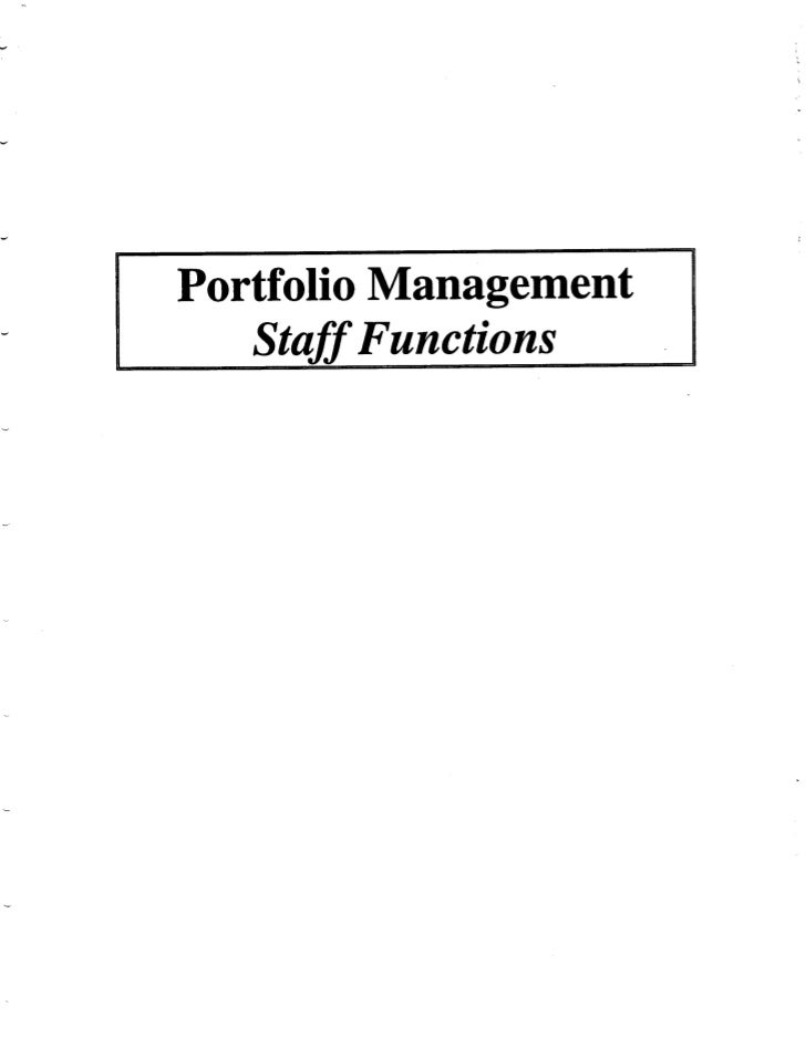 1991 UA PMC Report - Staff Functions