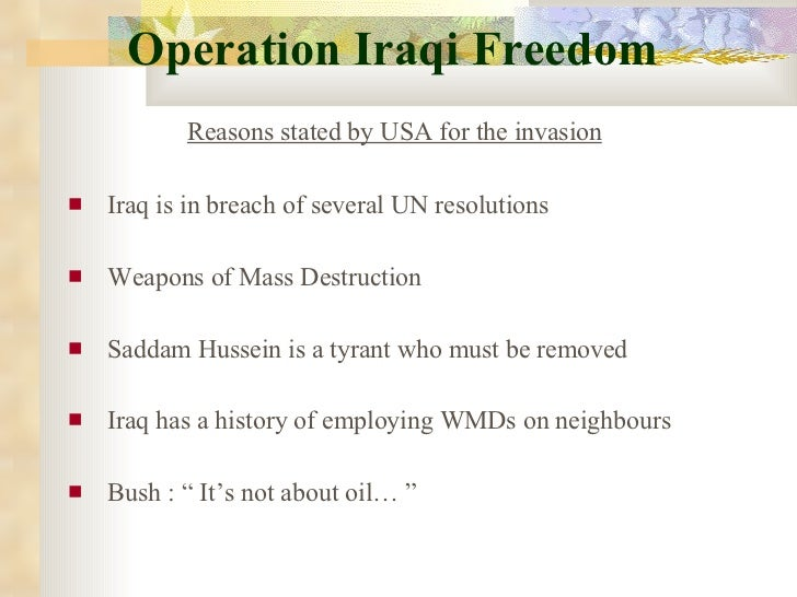 the american invasion of iraq and its true agenda In the bush agenda , antonia  before the invasion, iraq had a constitution much  or that real concern for the safety of the average american was ever at its.