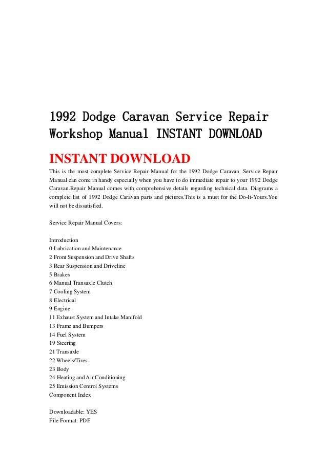Dodge instant user manuals user manuals array 1992 dodge caravan service repair workshop manual instant download 1 638 jpg cb u003d1367177235 fandeluxe Images