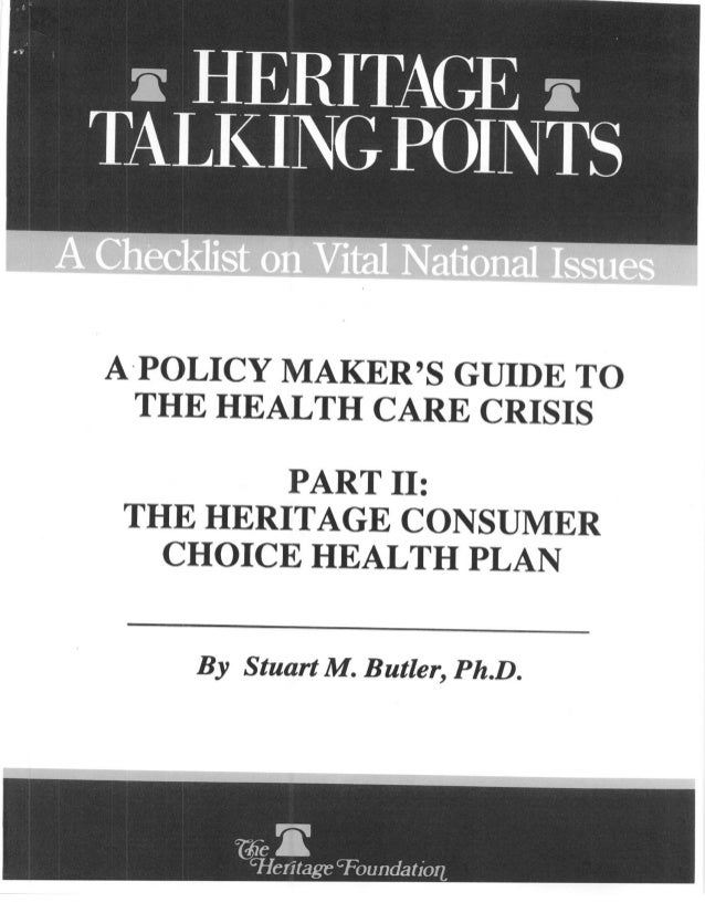 1992 Heritage Consumer Choice Health Plan