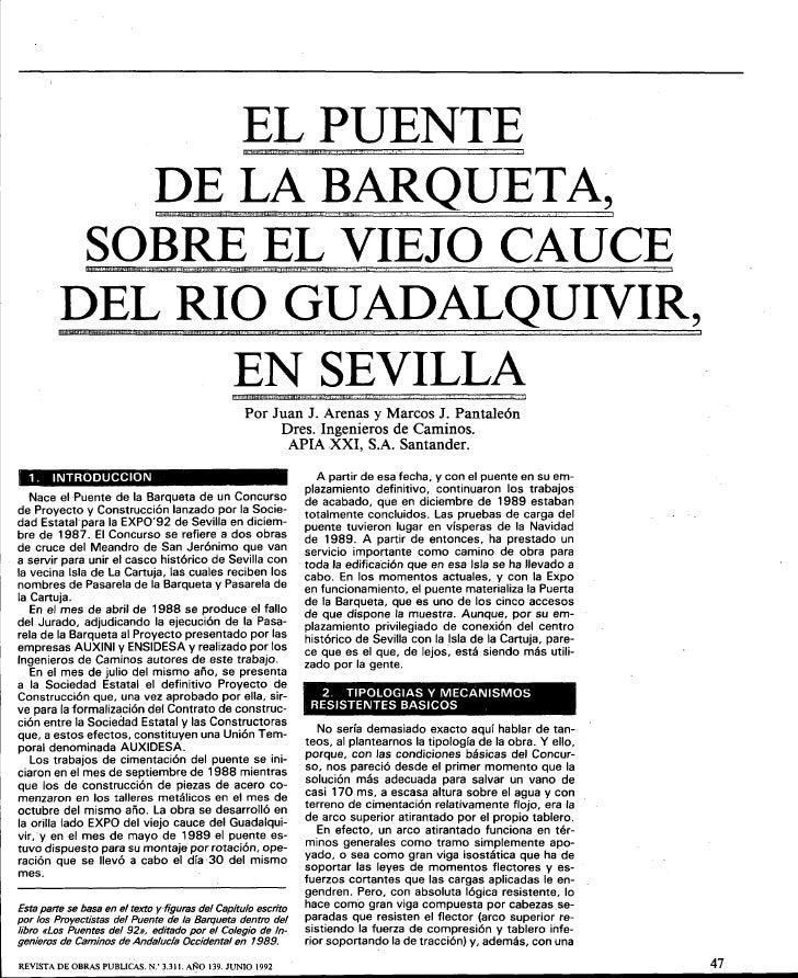 """EL PUENTE             DE LA BARQUETA,                   , """"j"""",O>hl   ':i)J@ """"'*·"""""""",0   Mn!   ij!~, ,.~--jc   """"UmH,tjijB'  ..."""